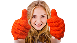 Silicone Grill Gloves by BBQ Pals
